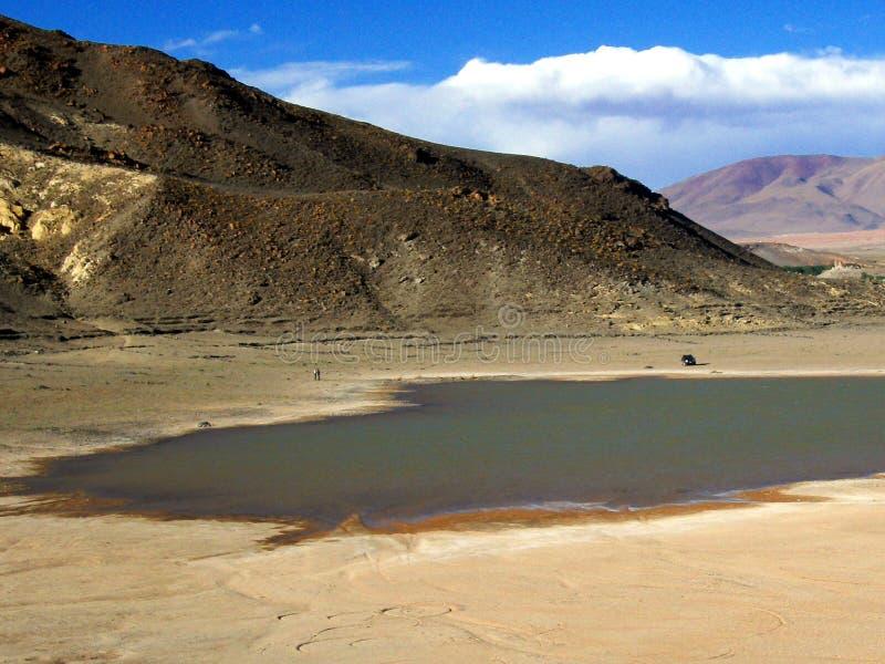 Jezioro w pustyni obraz stock