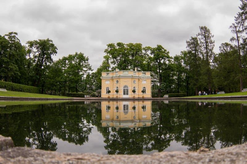 Jezioro w Tsarskoye Selo obraz royalty free