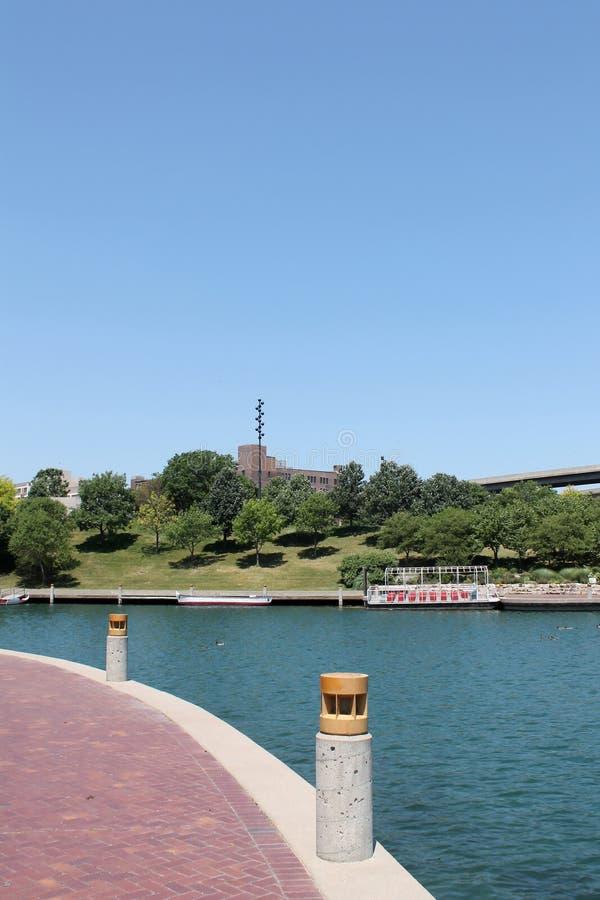 Jezioro w w centrum Omaha, Nebraska zdjęcia stock