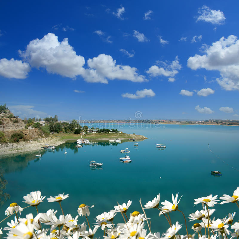 Jezioro w wiośnie fotografia royalty free