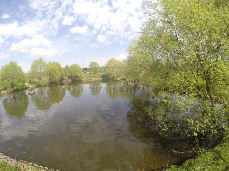 Jezioro w zoo obrazy stock
