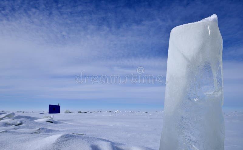 jezioro zimy mrożone krajobrazu zdjęcie stock