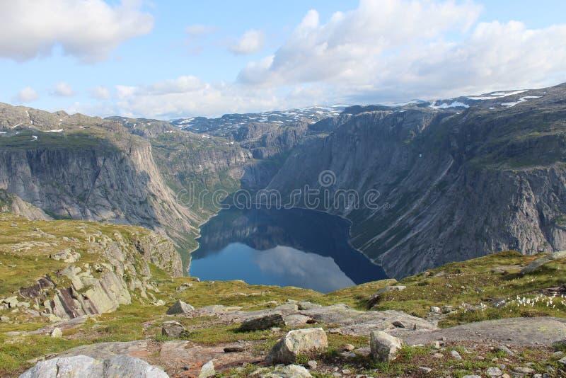Jezioru otaczają góry obrazy stock