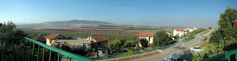 Jezreel dal och Givat HaMoreh arkivfoton