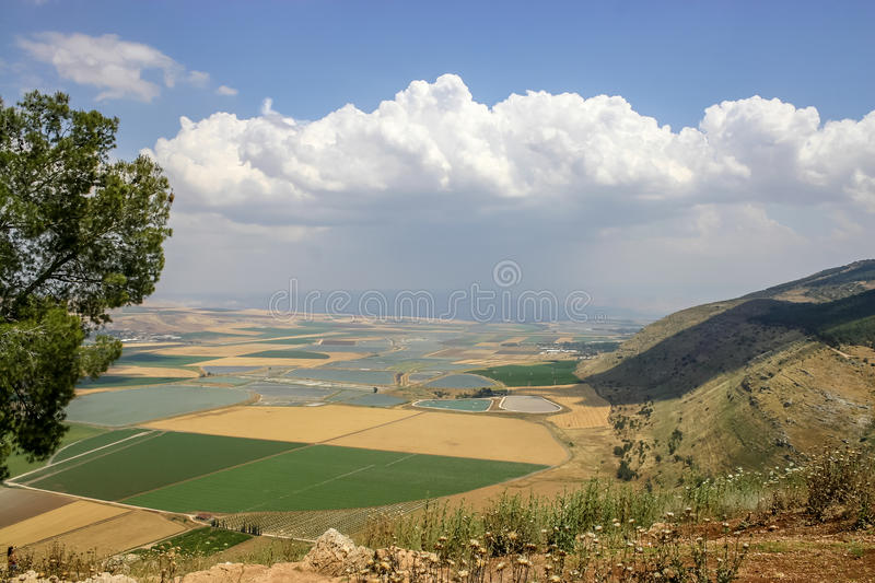 Jezreel Valley in Lower Galilee, Israel stock photography