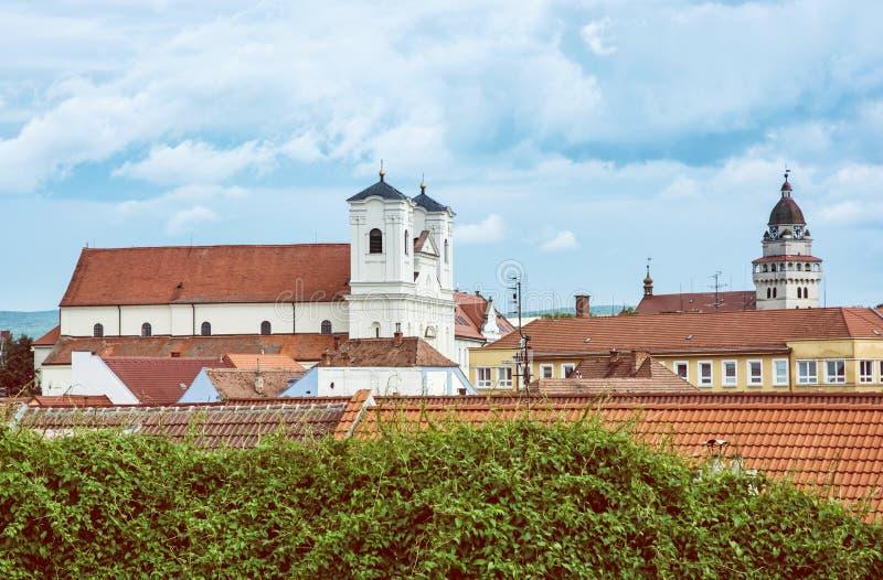 Jezuïetkerk en Parochiekerk van de aartsengel Michael van heilige in Sk stock fotografie