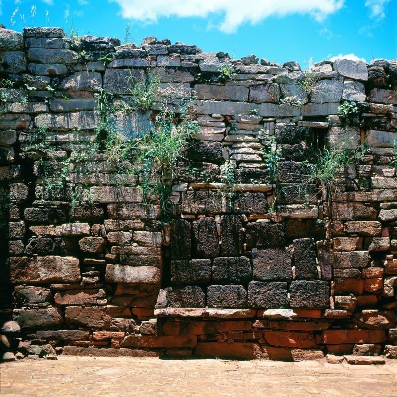 Jezuita misi ruiny, San Ignacio Mini, Argentyna zdjęcie stock