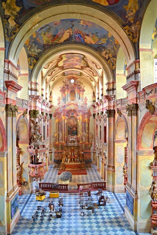 Jezuity kościół Annunciation maryja dziewica w Litomerice obrazy royalty free