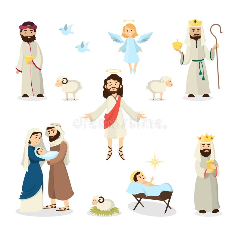 Jezus Chrystus opowieść royalty ilustracja