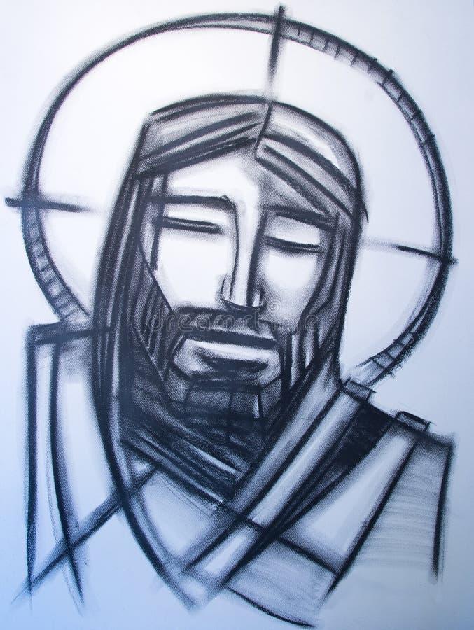 Jezus Chrystus twarz ilustracja wektor