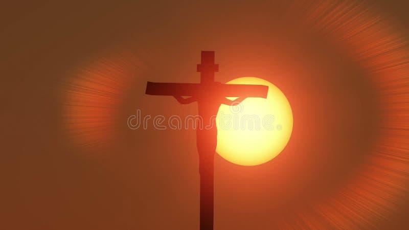 Jezus Chrystus ukrzyżowany materiał filmowy zbiory