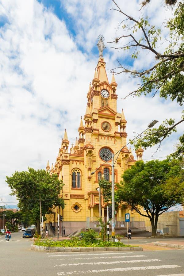 Jezus De Nazarene Kościół Prado okręg w Medellin Kolumbia obrazy royalty free