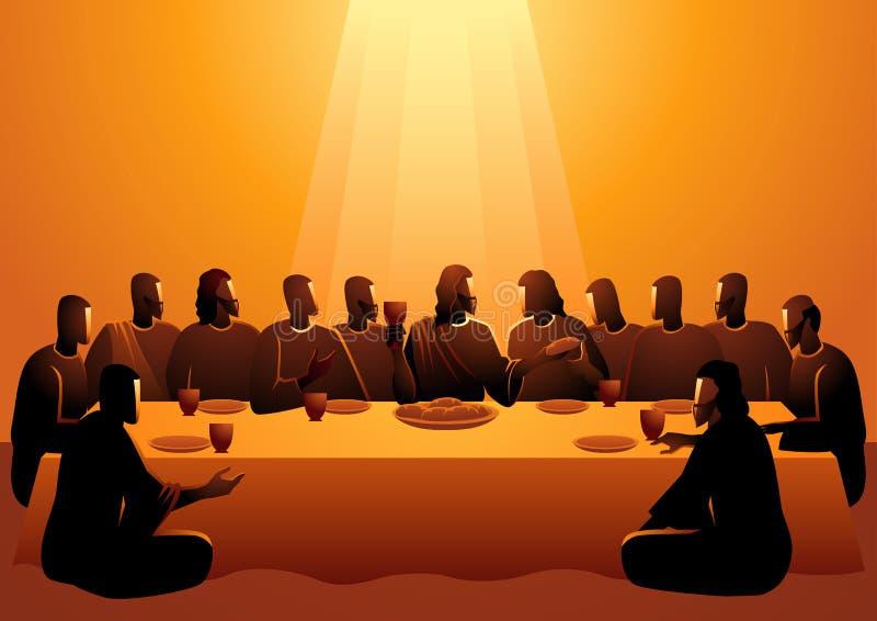 Jezus dzielił z jego apostołami ilustracji