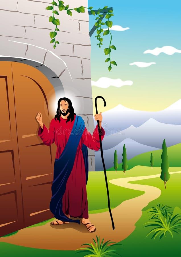Jezus dzwoni ilustracji