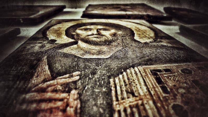 Jezus-Ikone lizenzfreies stockfoto
