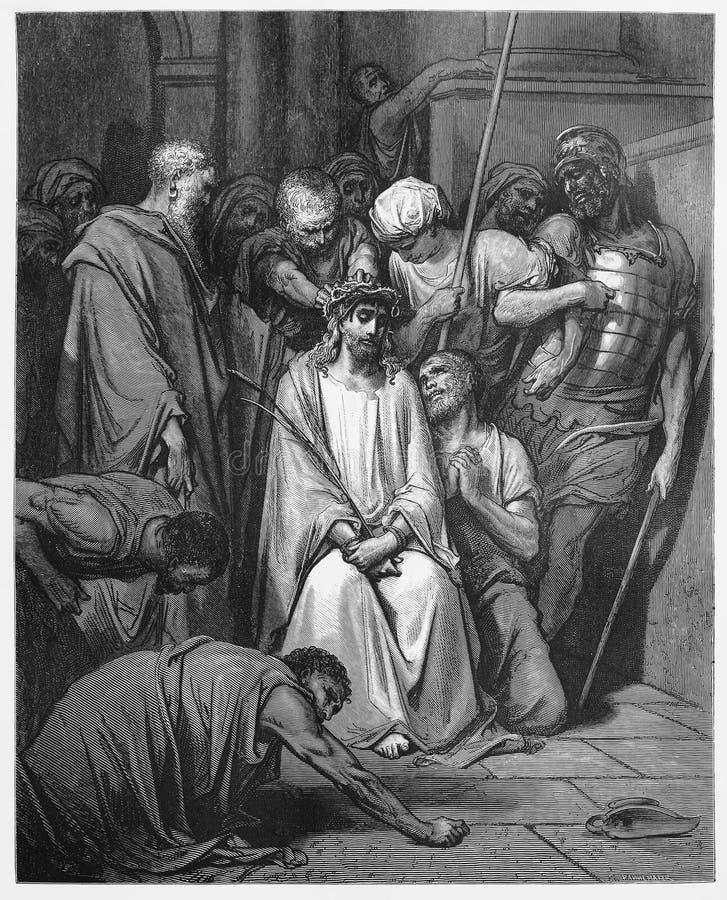 Jezus Koronuje z cierniami fotografia royalty free
