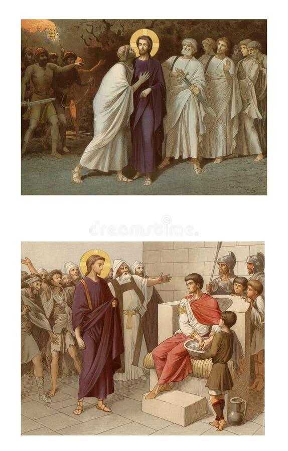 Jezus podnosi wdowiego ` s syna ilustracji