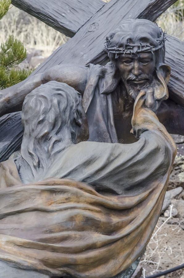 Jezus umierał dla my fotografia royalty free