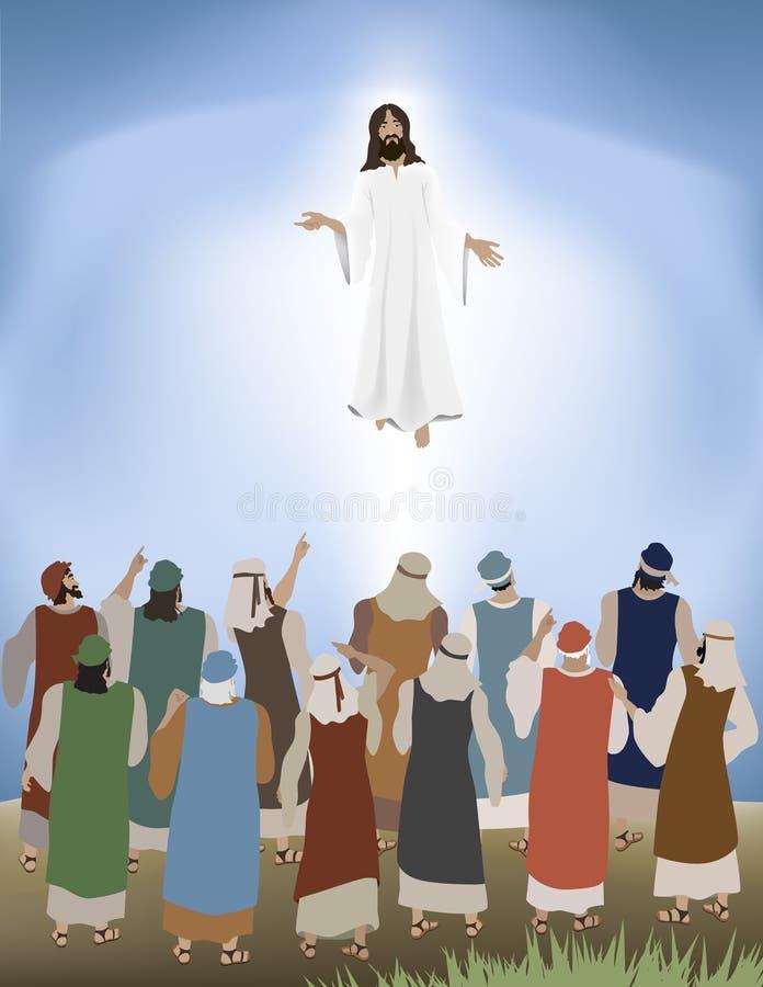 Jezus Unosi się ilustracji