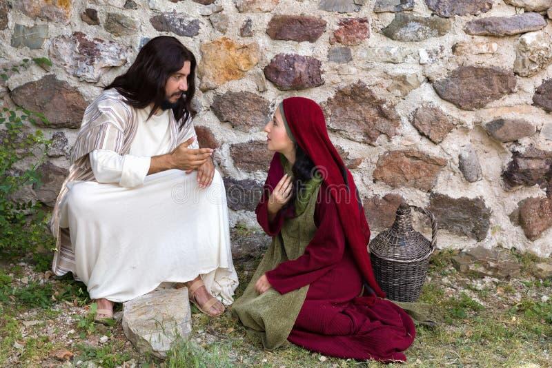 Jezusowa pobłażliwa grzesznica zdjęcie royalty free