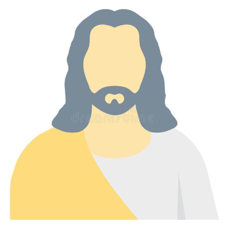 Jezusowego koloru Wektorowa ikona Łatwo redaguje lub modyfikuje ilustracja wektor