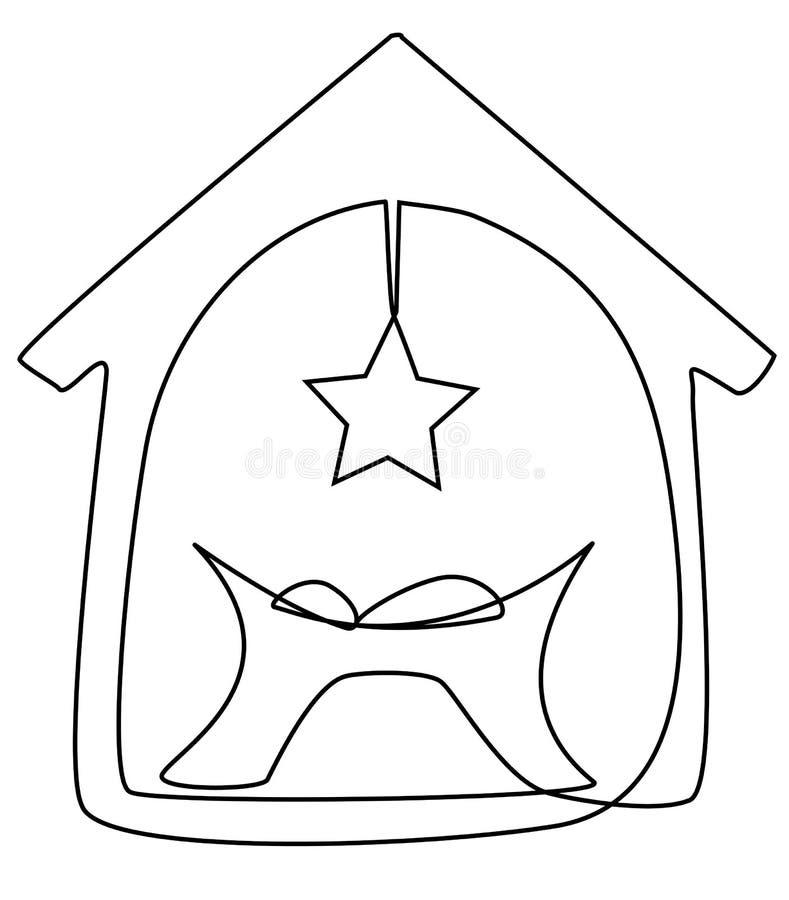 Jezusowy dziecka dziecko royalty ilustracja
