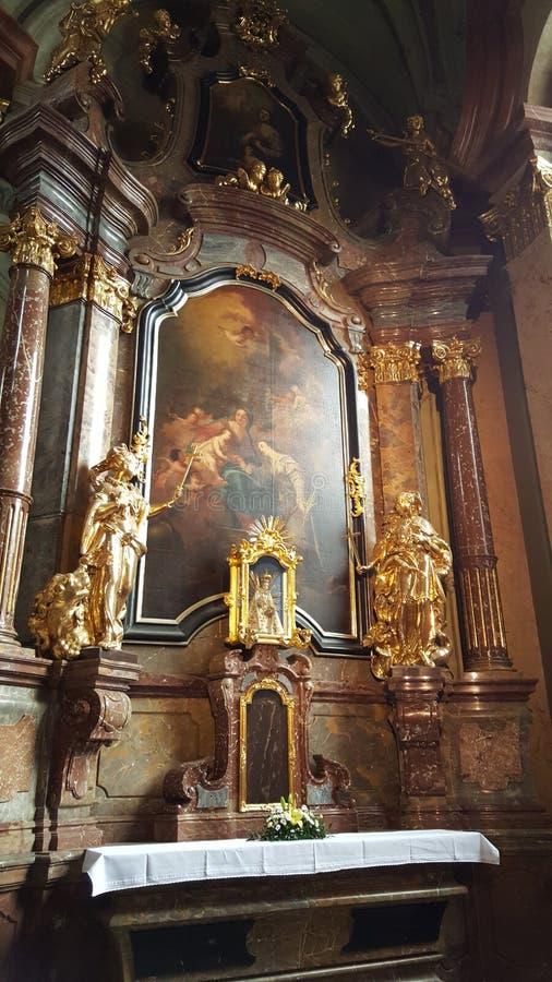 Jezusowy dziecko - niemowlak Praga przy kościół Nasz dama Zwycięska fotografia royalty free