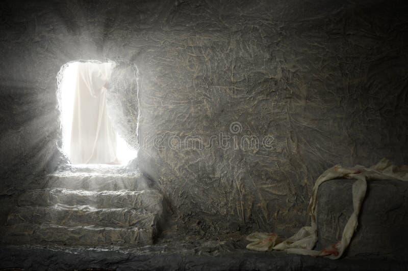 Jezusowy Opuszcza Pusty grobowiec