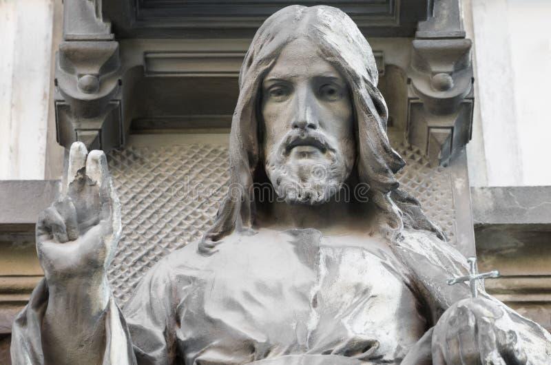 Jezusowy statuy zbliżenie zdjęcia royalty free