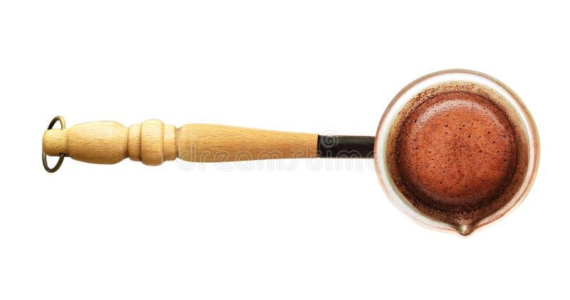 Jezve ou pot de brassage de café turc image libre de droits
