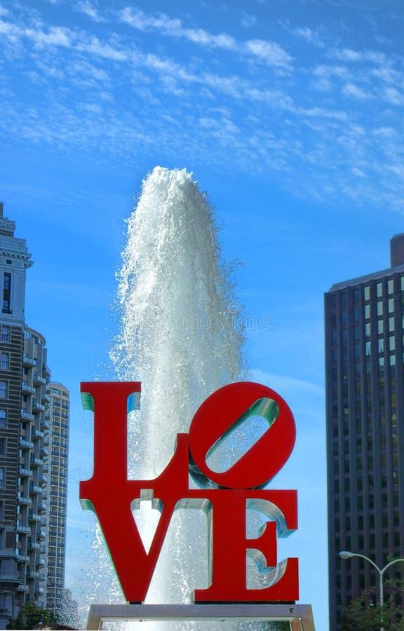 JFK广场的费城宾夕法尼亚爱公园 免版税库存照片