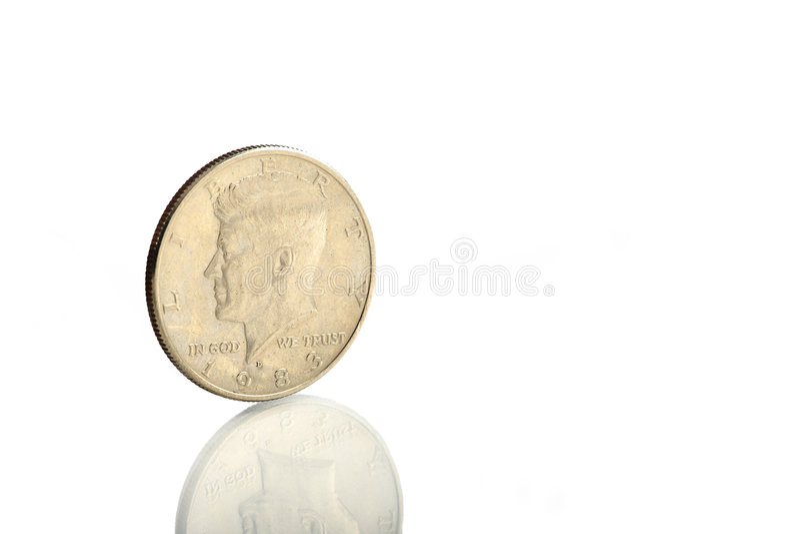 jfk монетки стоковые изображения