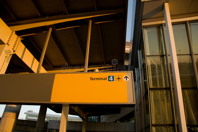 JFK Airport. Terminal 4 building in JFK International airport stock photography