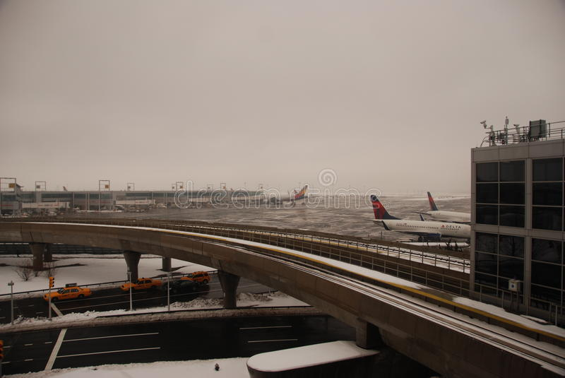 Download JFK airport after a storm editorial stock image. Image of extreme - 18398144