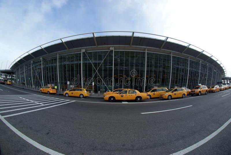 JFK airport, Terminal 4. Outside of Terminal 4, JFK airport, New York, NY stock photo