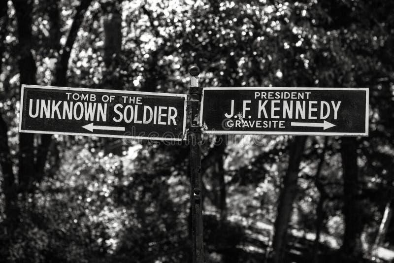 JFK ed il soldato sconosciuto immagine stock