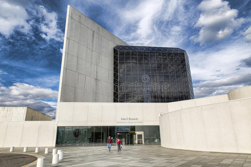 JFK Presidentil Library and Museum royalty free stock photo