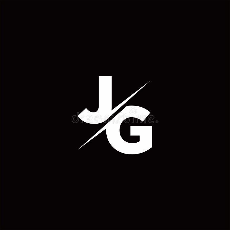 Monogram JG Logo Design By Vectorseller   TheHungryJPEG.com