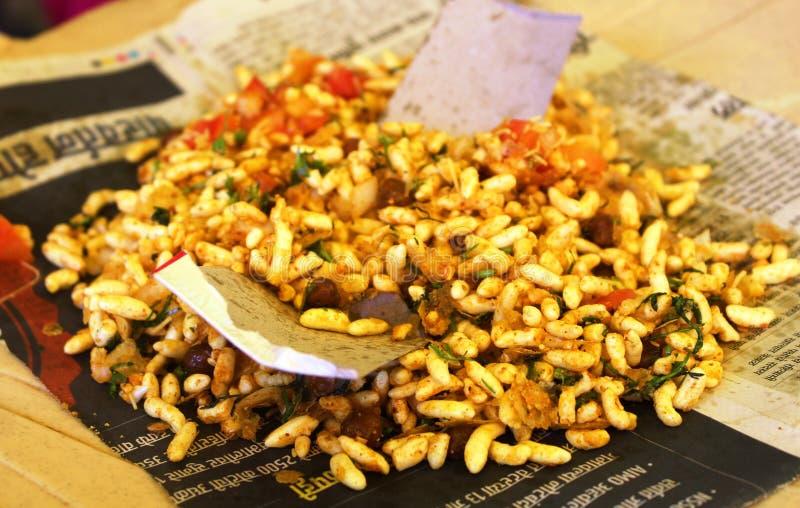 Jhalmuri indiska snaks för en krydda arkivbilder
