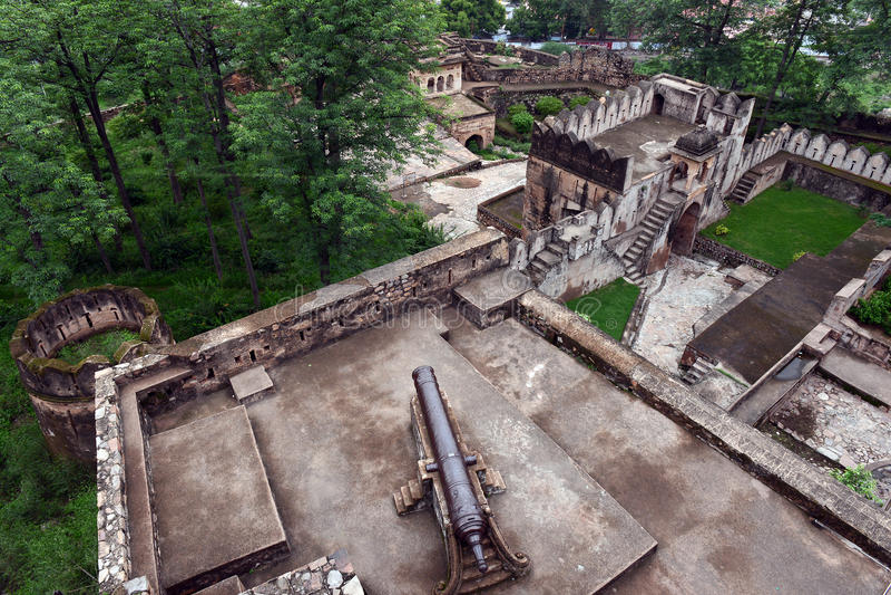 Jhansi fort - artyleria zdjęcie royalty free