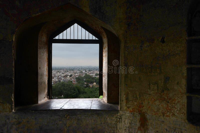 Jhansi fortu okno obraz royalty free