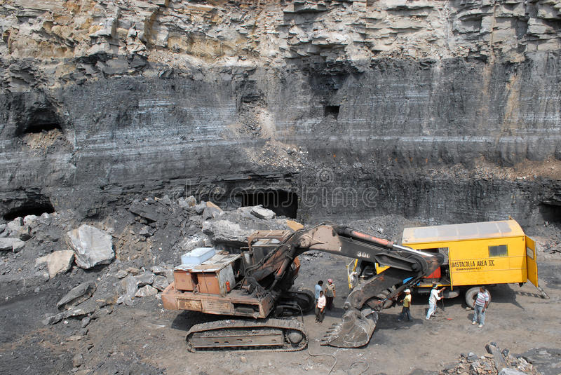 Jharia Coalfield. India is the third largest coal producing nation and Coal India Limited (CIL) is the biggest company in the world in terms of coal production stock photography