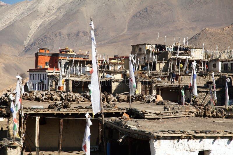 Jharkot-Dorf lizenzfreies stockfoto