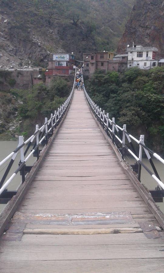 Jhula Bridge stock photo