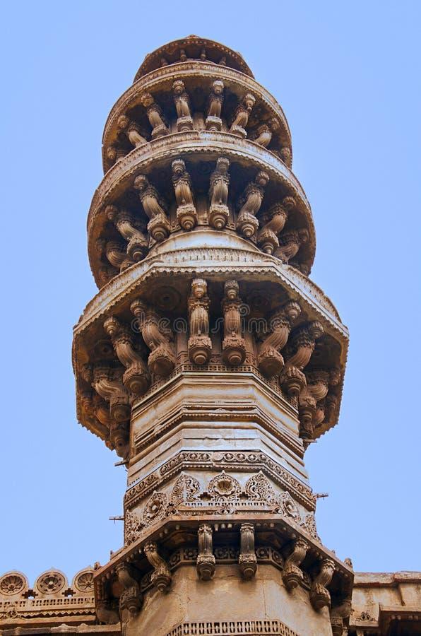 Jhulta Minara, Ahmedabad, Gujarat royalty-vrije stock afbeelding