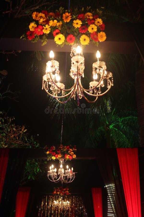 Jhumar ljus för garnering royaltyfri fotografi