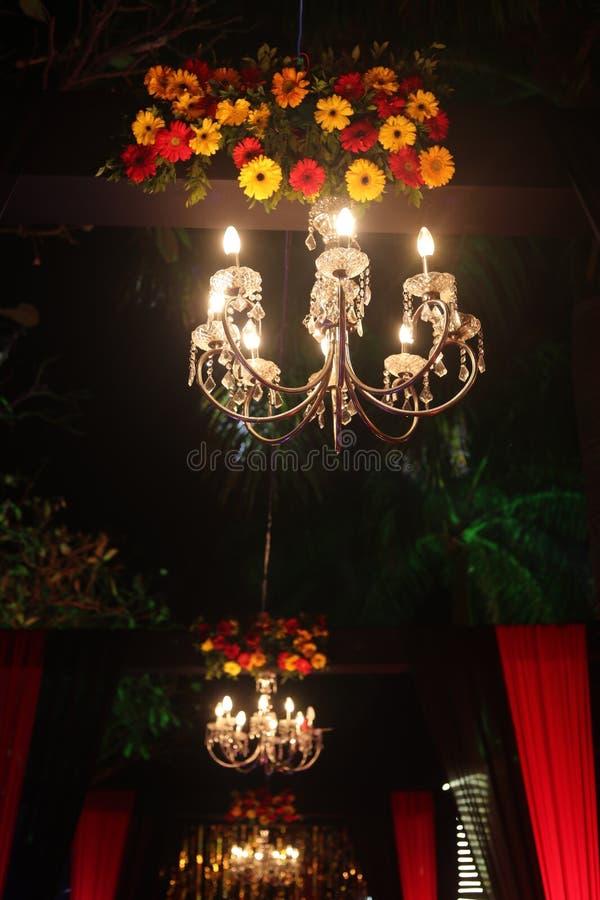 Jhumar ljus för garnering royaltyfria bilder