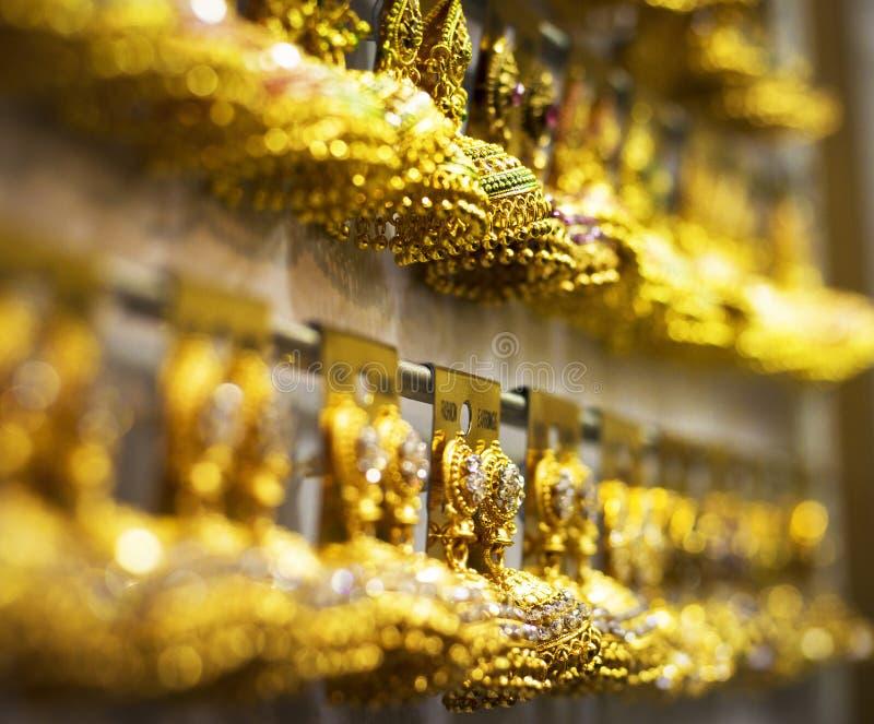 Jhumka earring indian jewellery stock photo