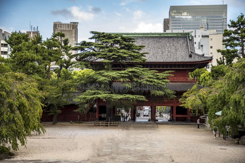 ji寺庙东京zoji 免版税库存照片