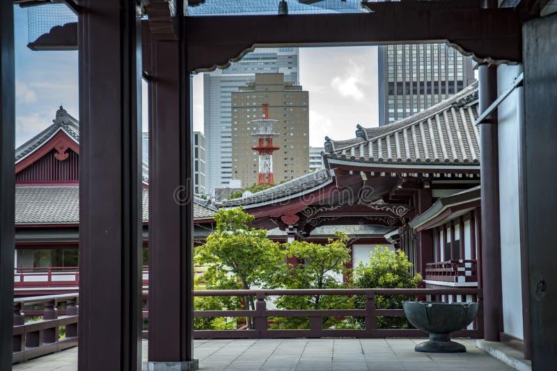 ji寺庙东京zoji 免版税库存图片